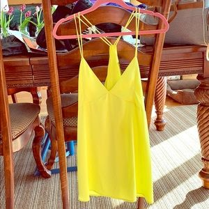 Honey Punch- Neon yellow strappy tank. M.